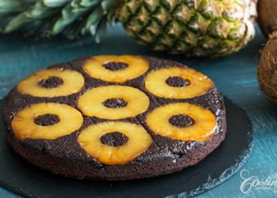 Csokis-ananászos sütemény