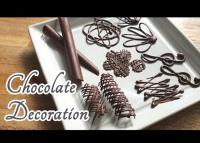 Látványos csokoládédíszek alapfokon