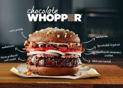 Igen, itt a Burger King Csokoládés Whopper-e!
